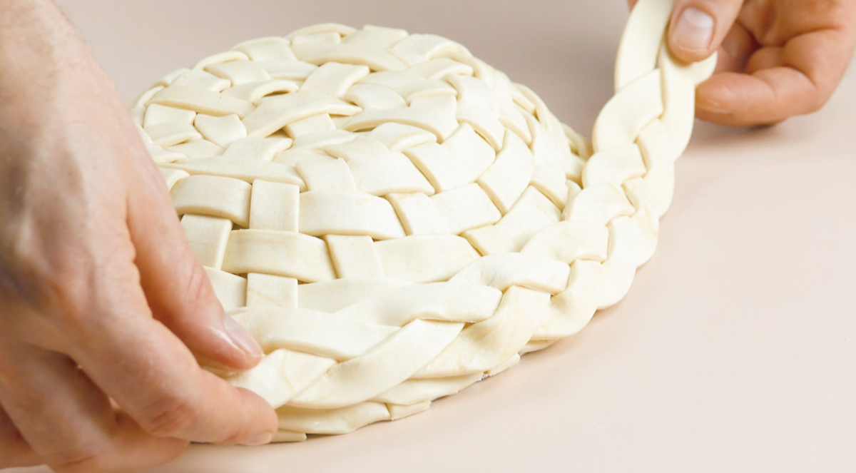 tresser la pâte feuilletée