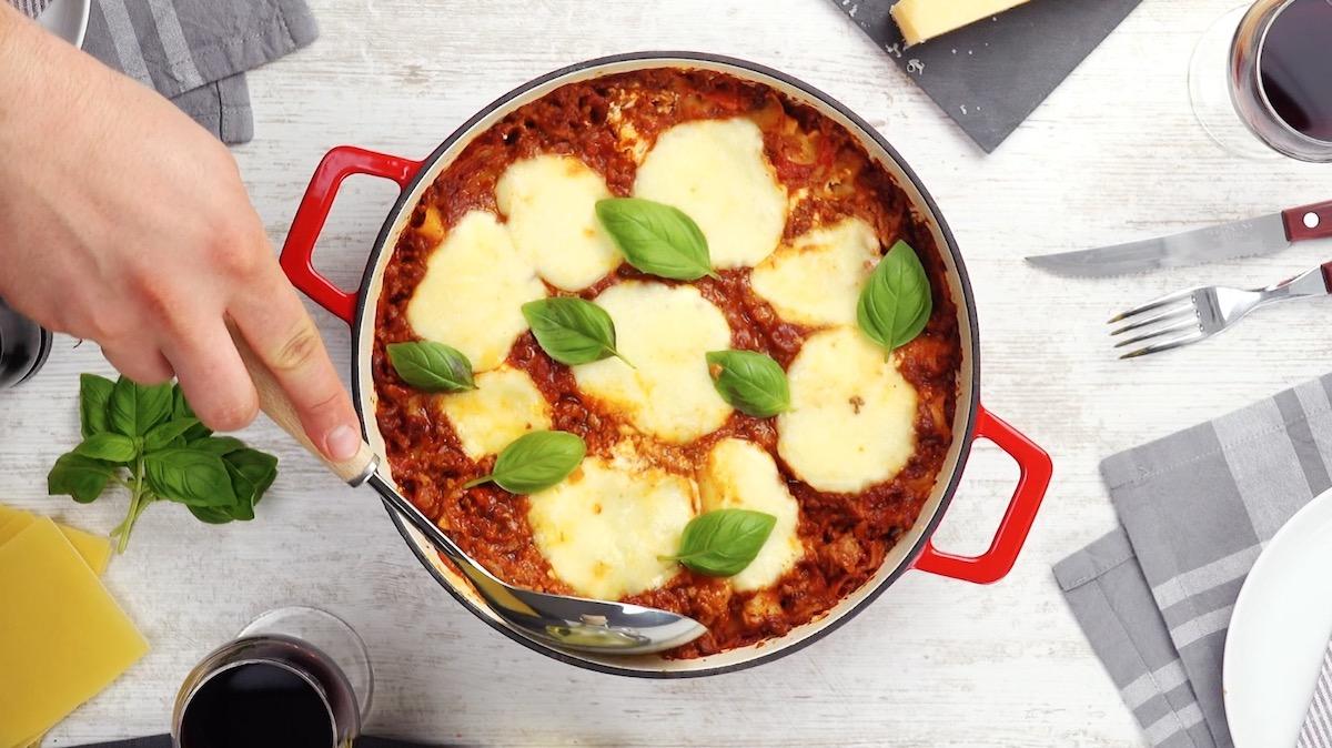one pot de lasagnes