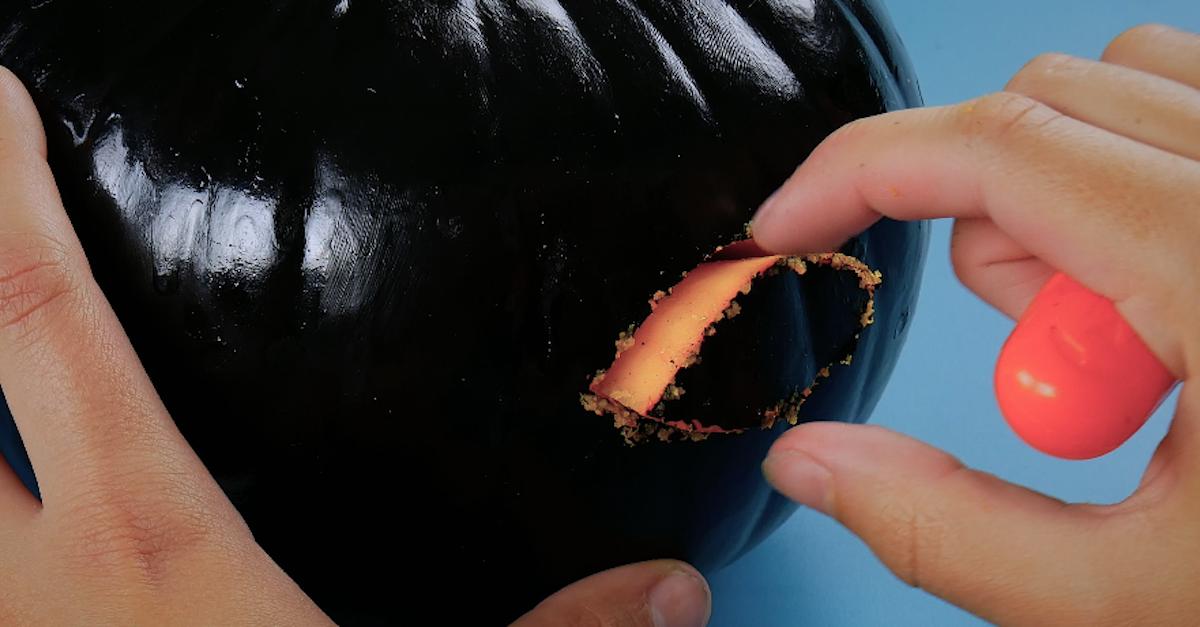 carve eyes in the pumpkin