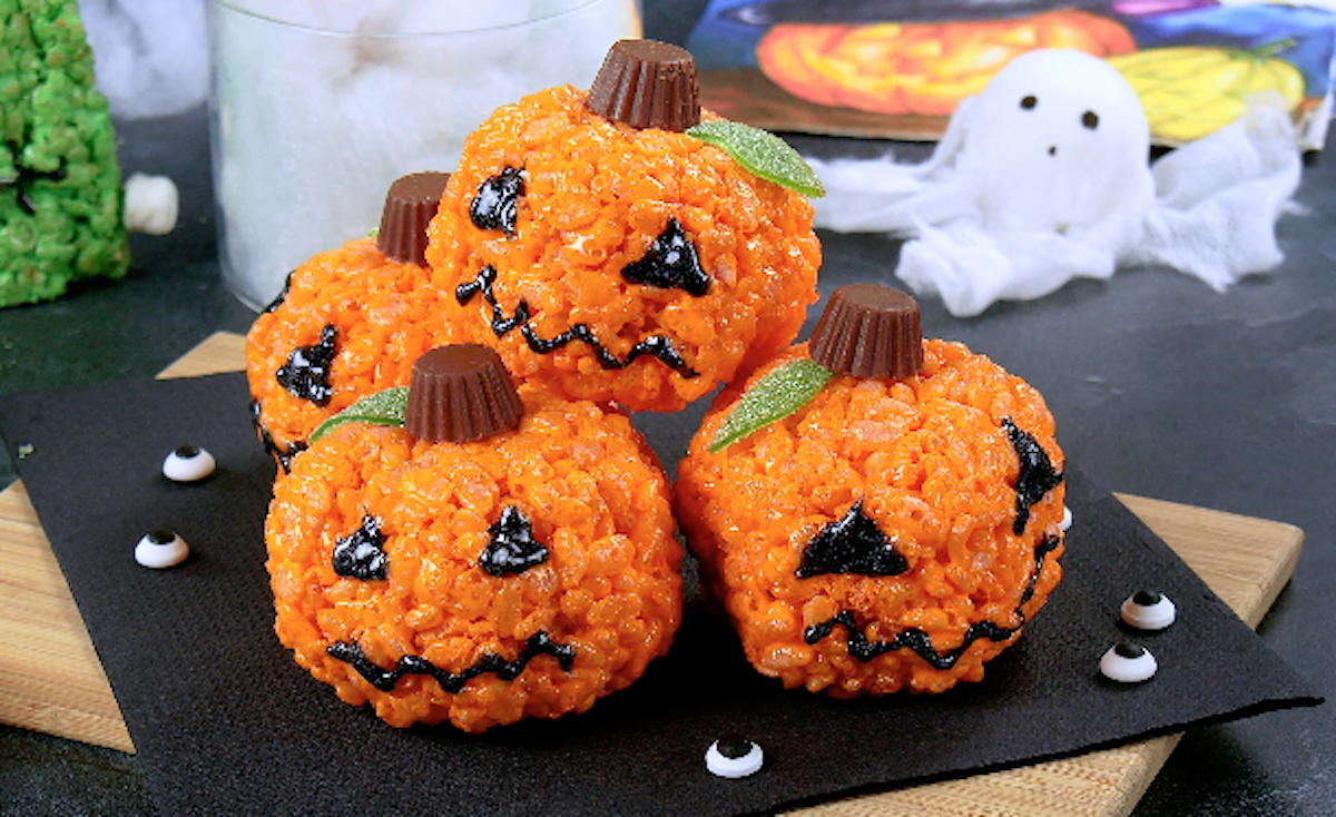 pumpkins in puffed rice
