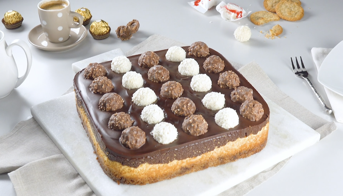 Cheesecake avec Ferrero Rocher et Raffaello