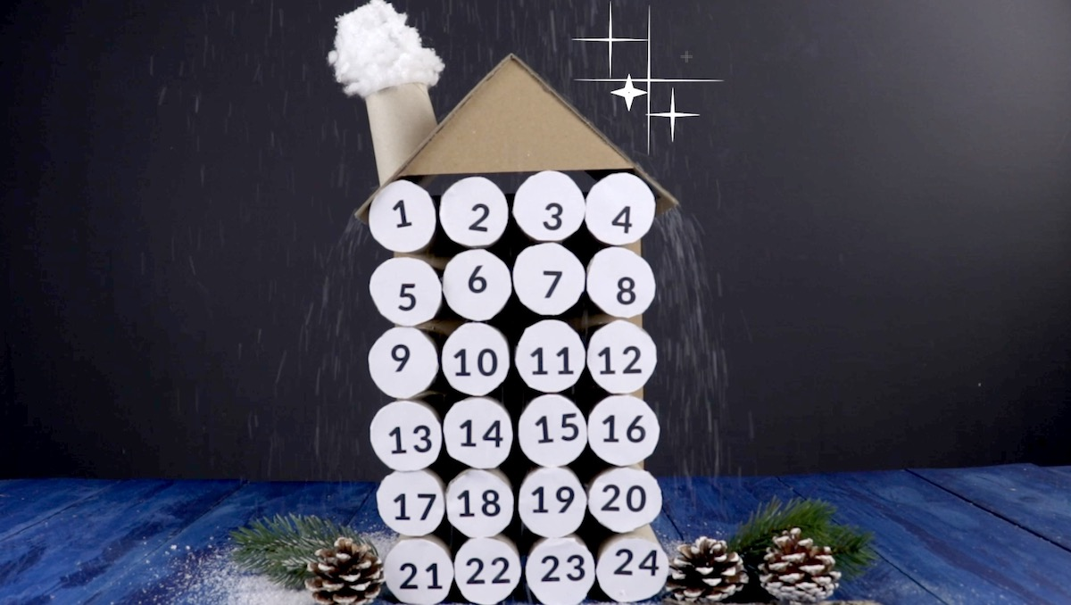 house shaped advent calendar