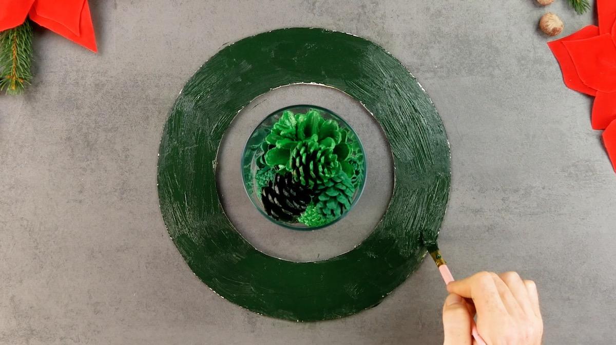 peindre l'anneau en carton