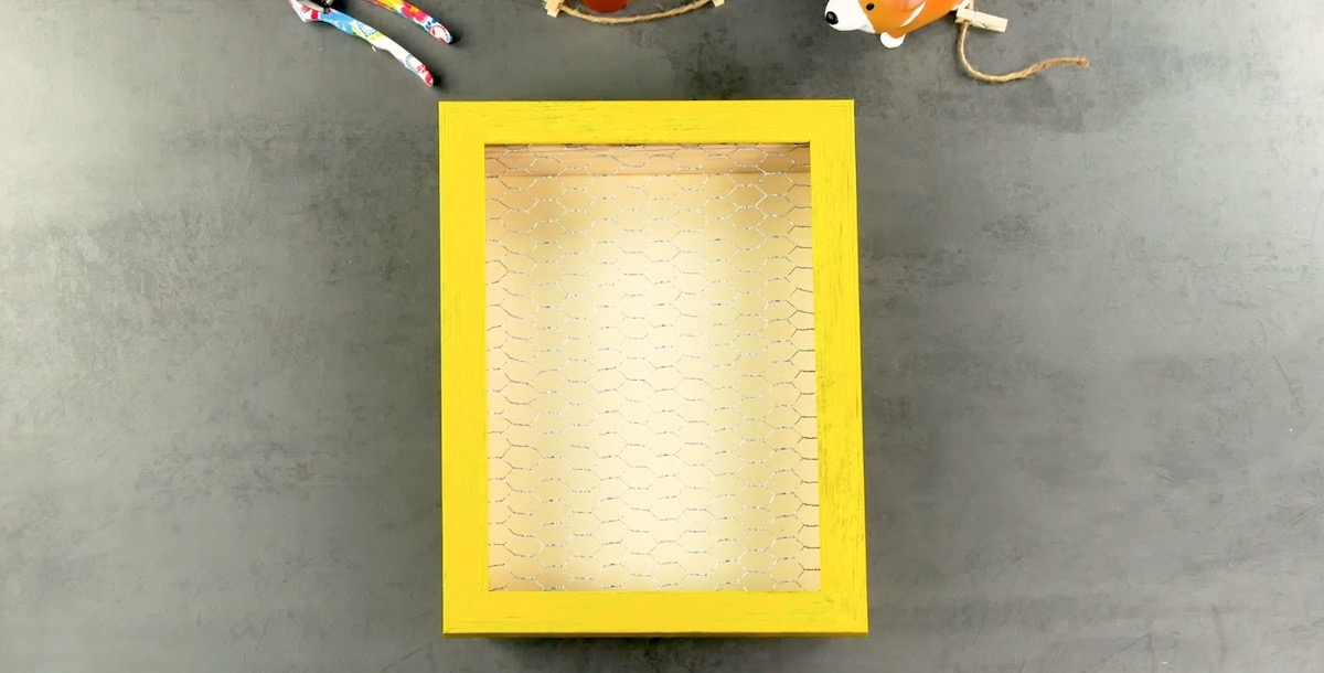 wooden box with wire mesh