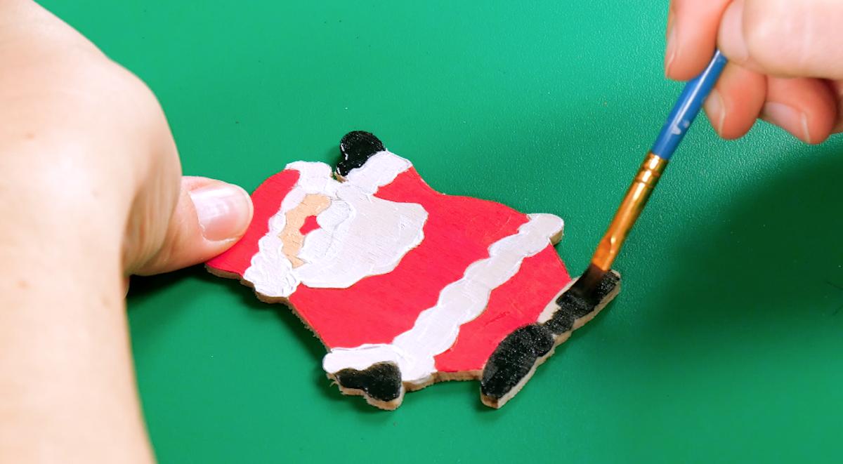 draw and cut a plywood santa claus