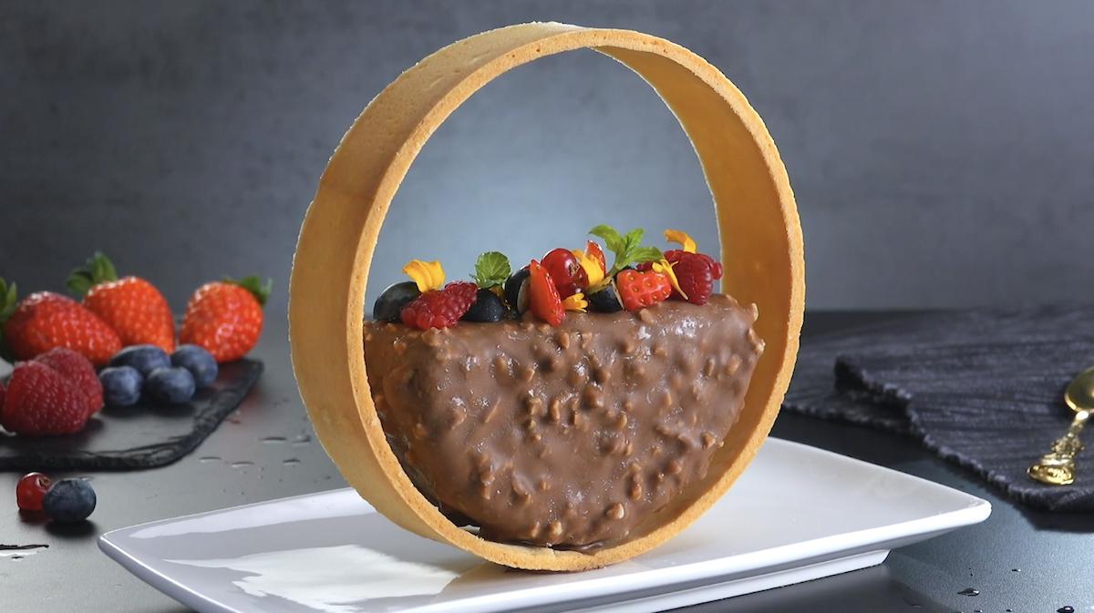 parfait crémeux et du chocolat croustillant