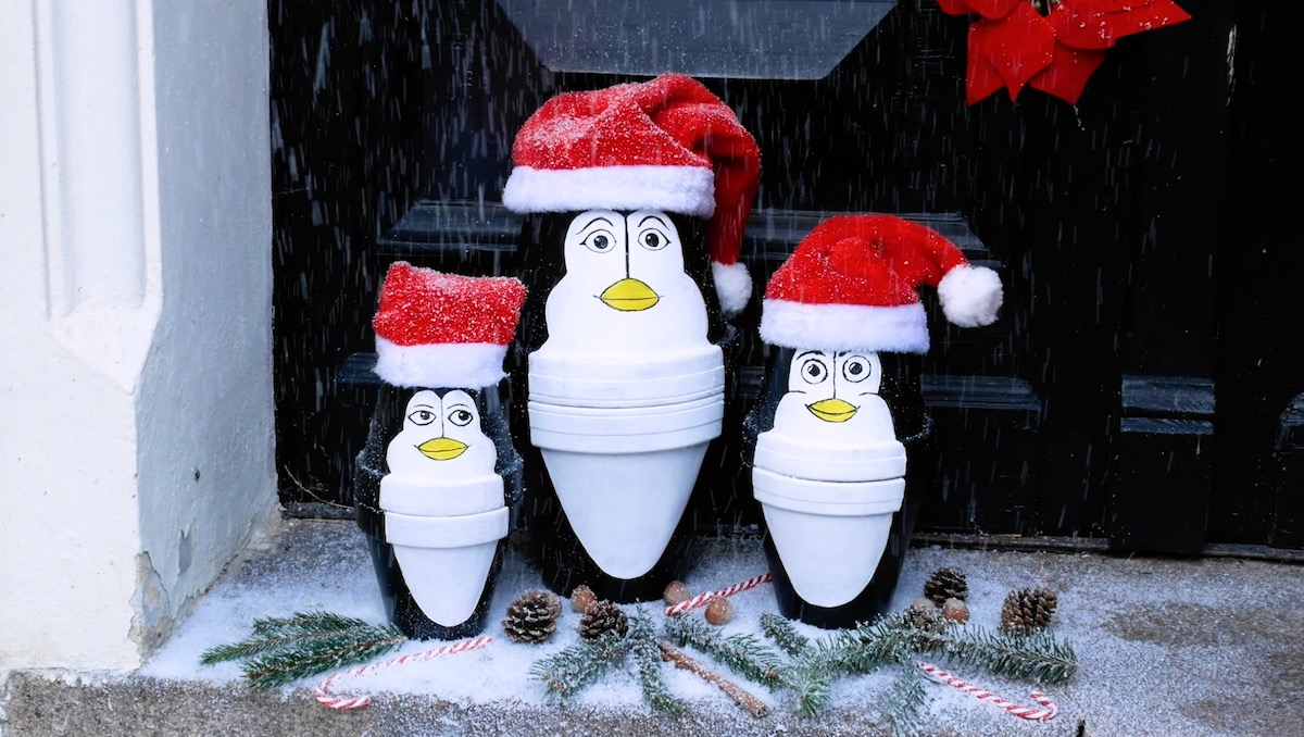 penguins in pots