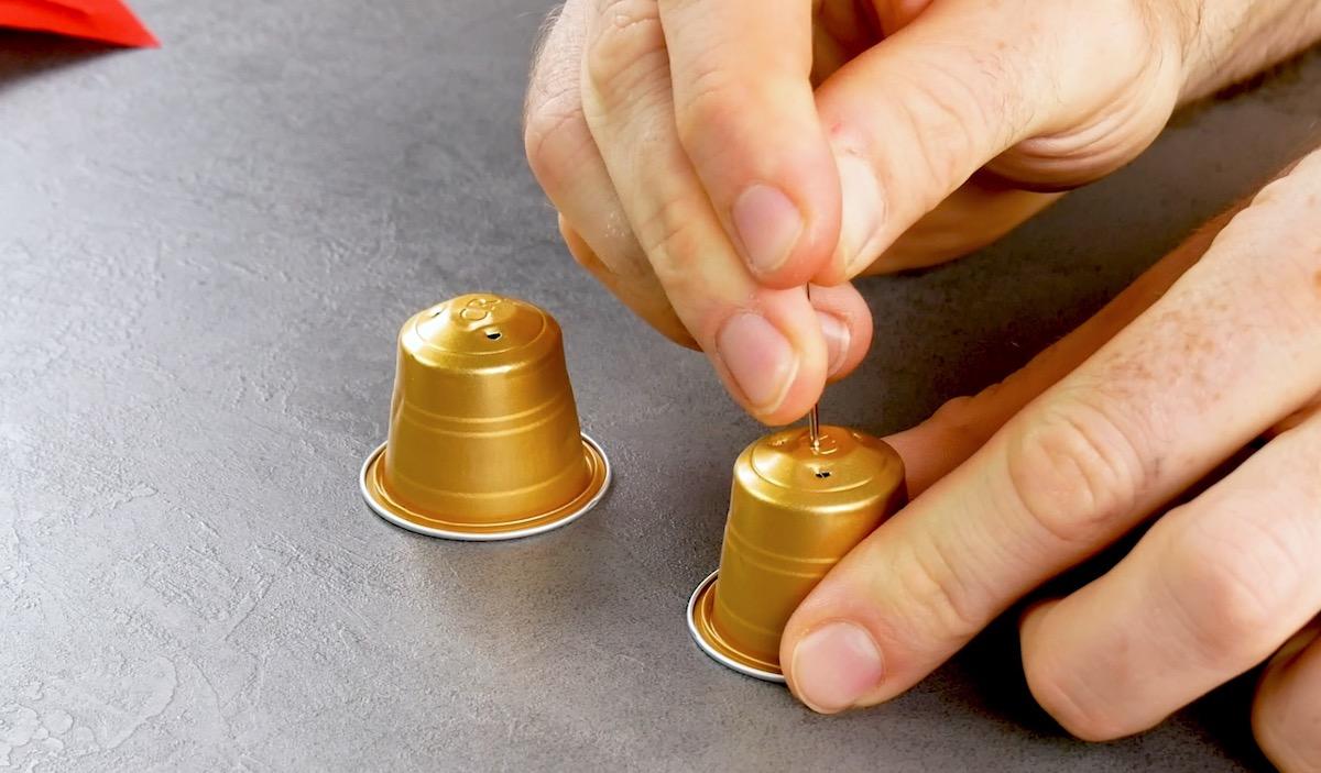 pierce the capsules
