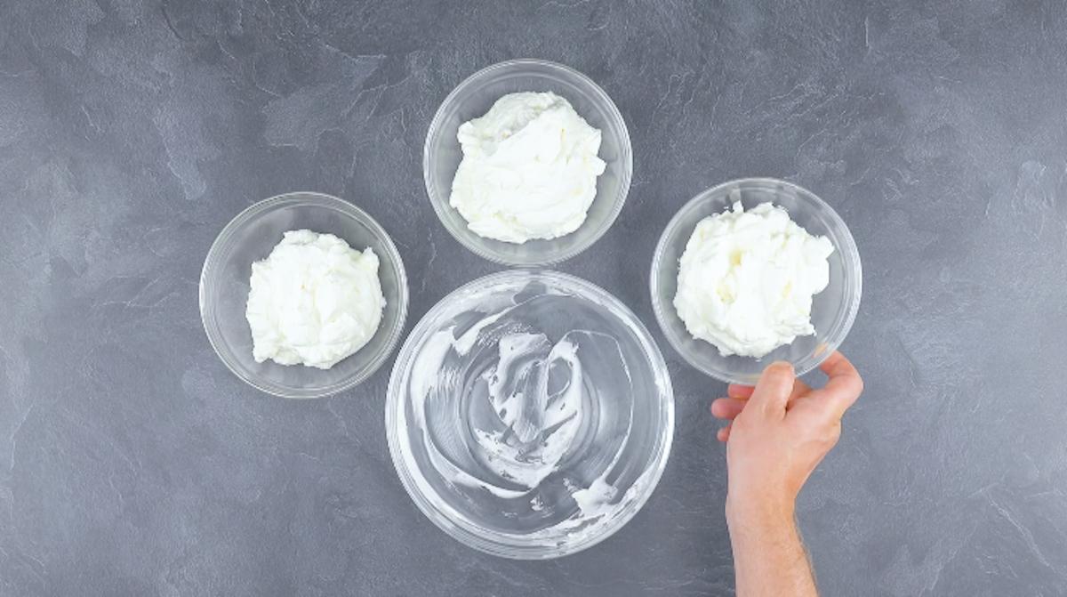 diviser la crème en 3