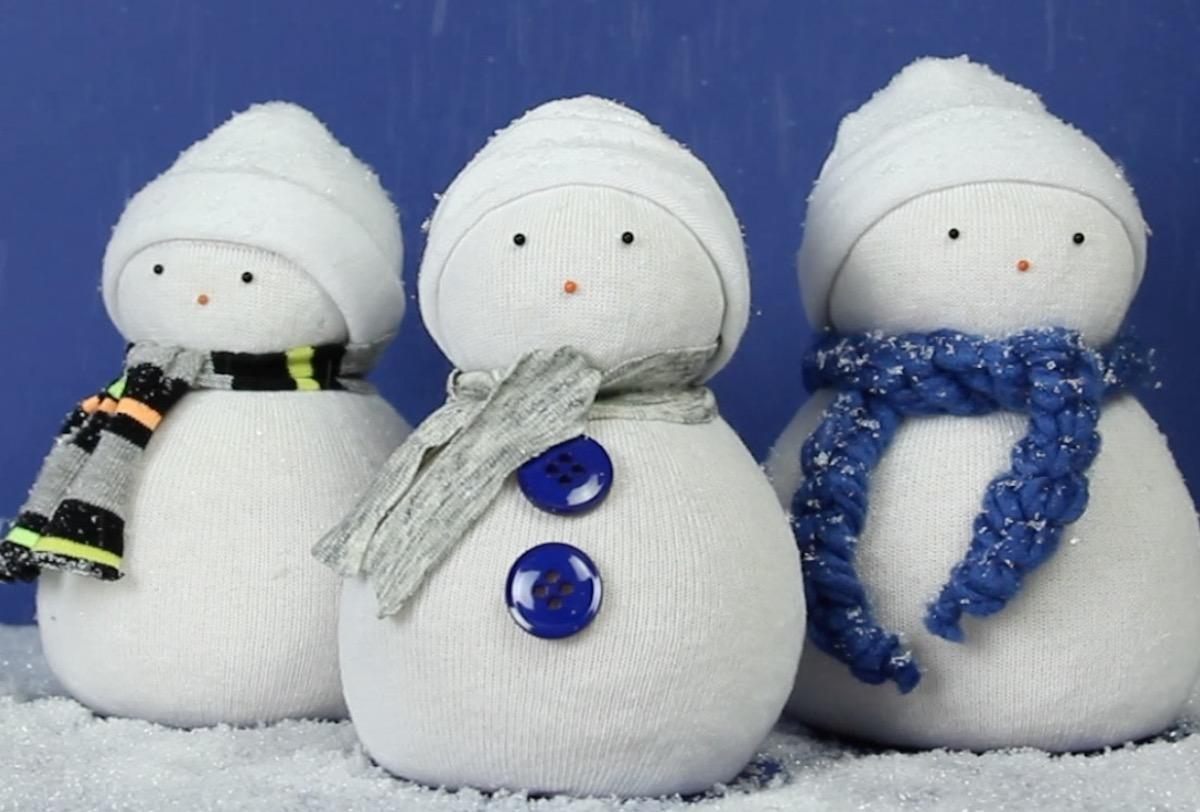 bonhomme de neige remplis de riz