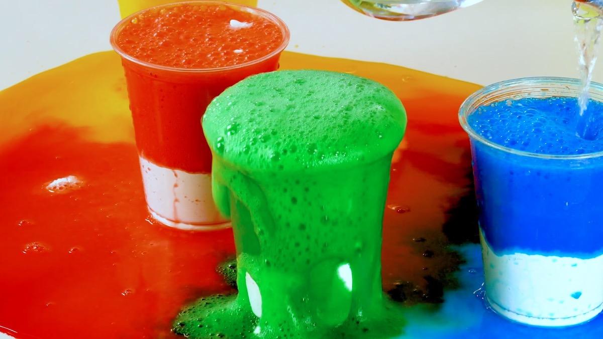 volcans colorés