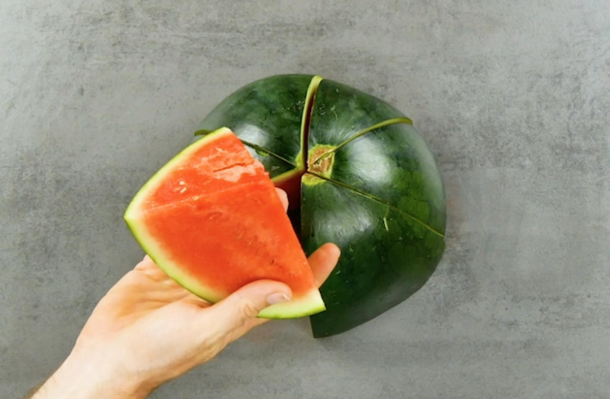 remove bacteria from a watermelon