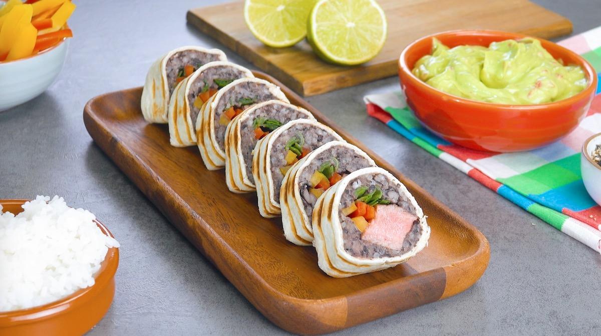 sushis à la viande