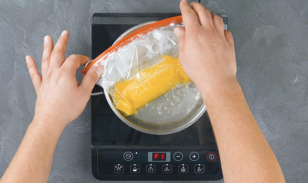 faire cuire le jaune d'œuf