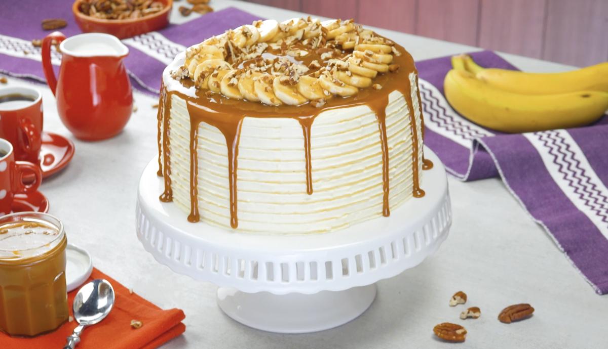 gâteau à la crème au beurre et au caramel
