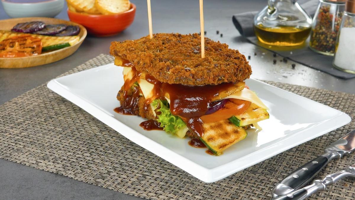 sandwich de rumsteck et légumes