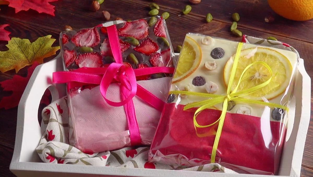 Idée cadeau : chocolat aux fruits maison
