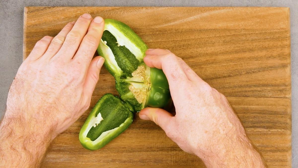 Couper un poivron