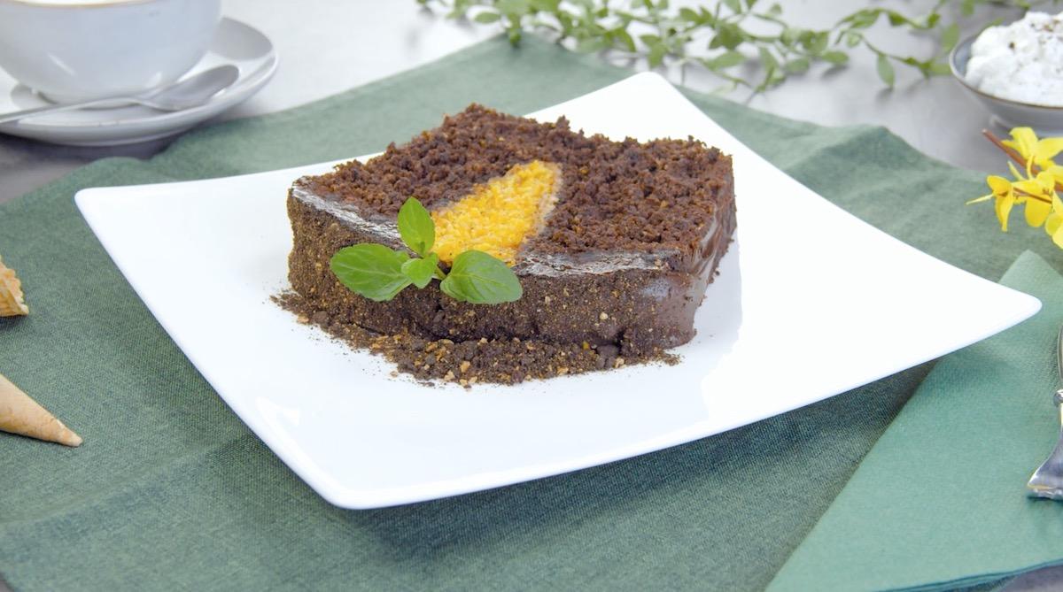 gâteau chocolat carotte coupé