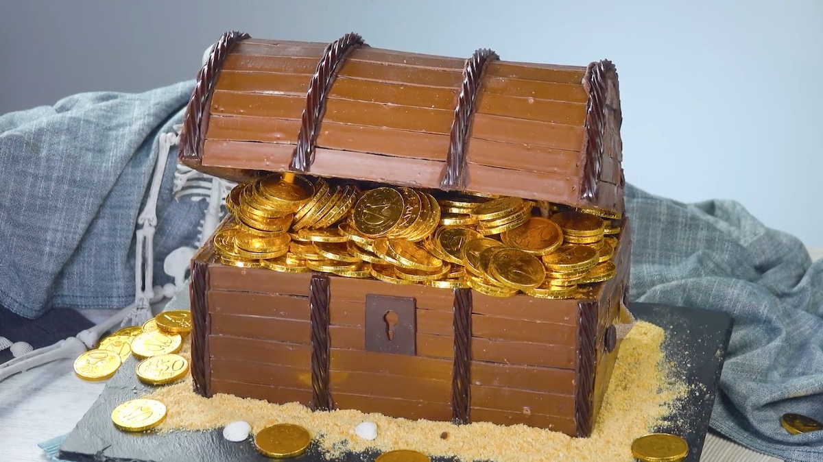 gâteau coffre au trésor