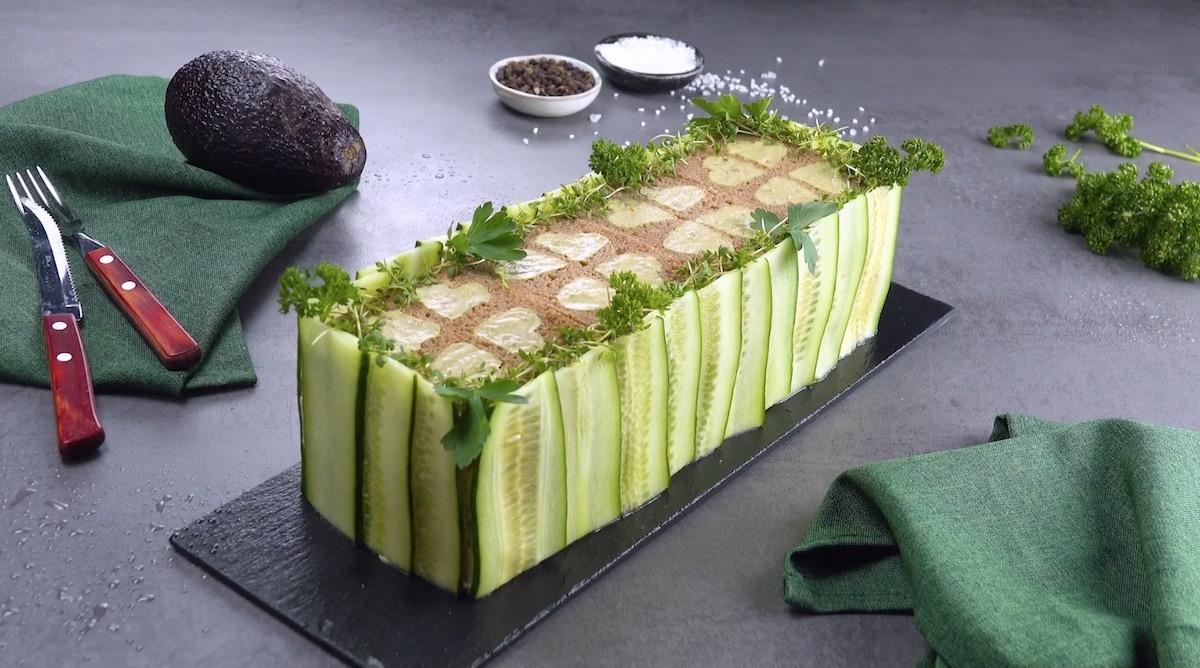 Gâteau d'été au guacamole