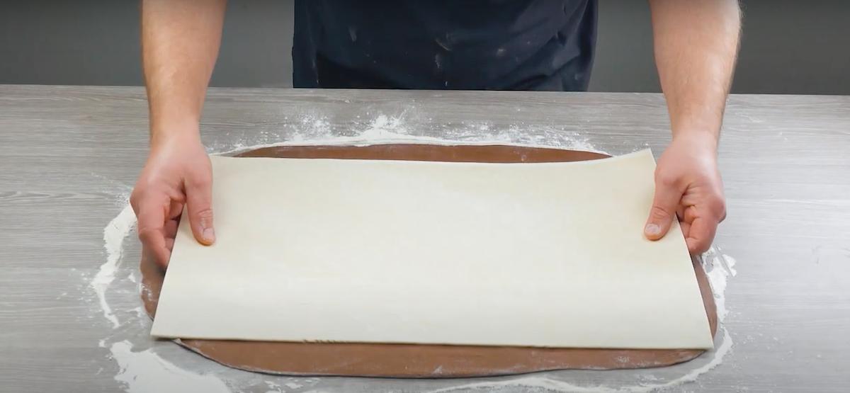 superposer les 2 pâtes