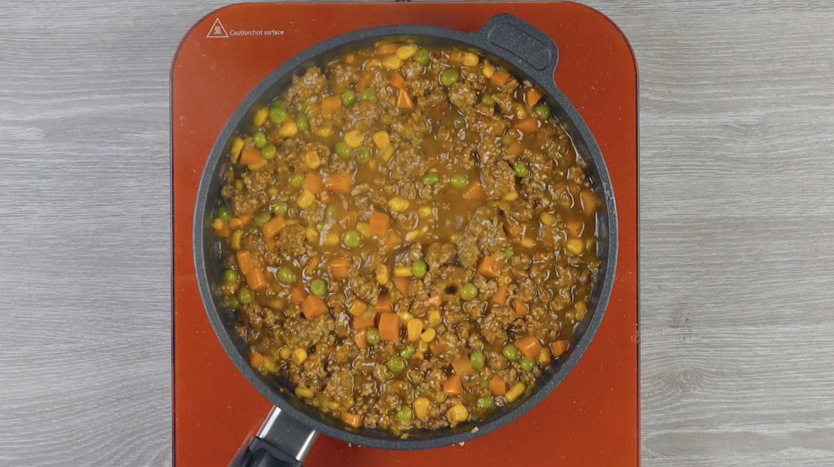 préparer la garniture de viande hachée