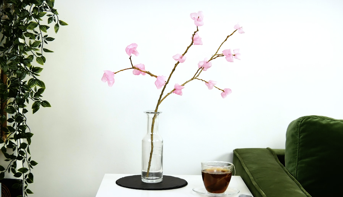 Branches with wax flowers
