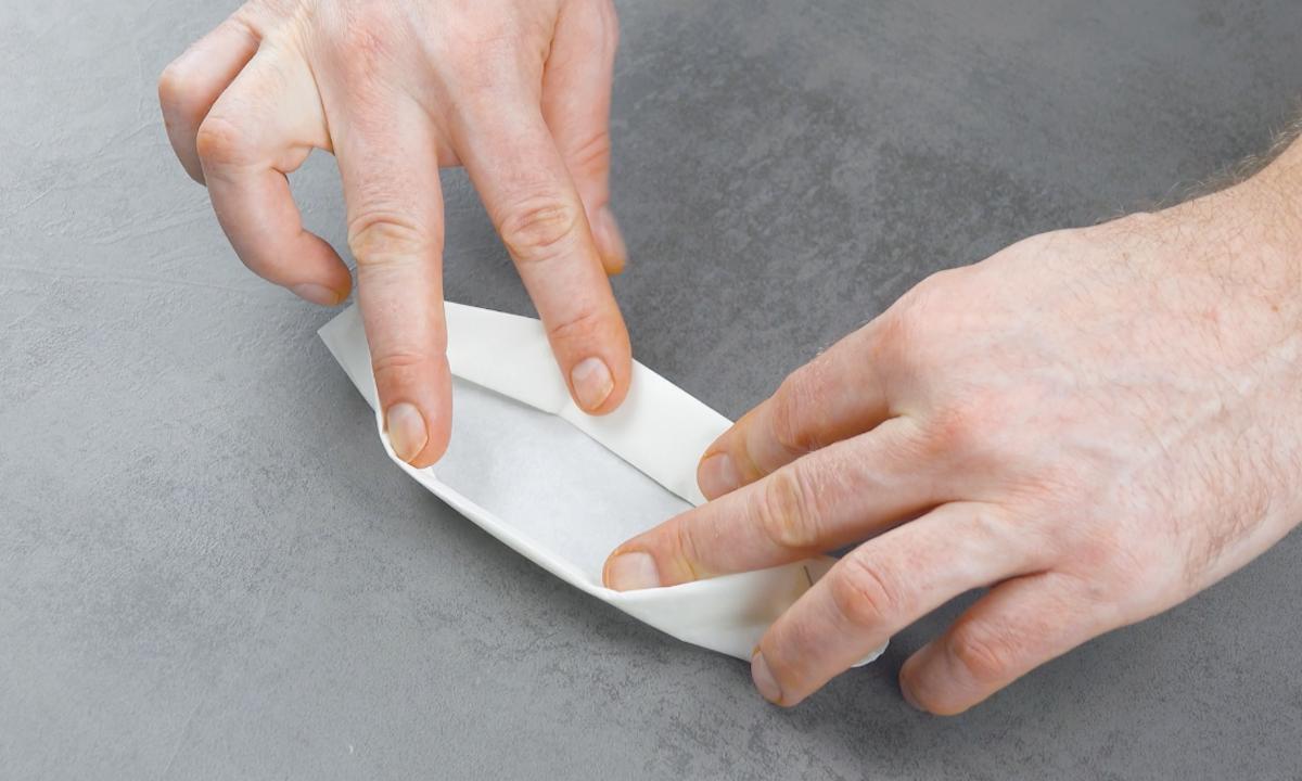 plier le papier sulfurisé