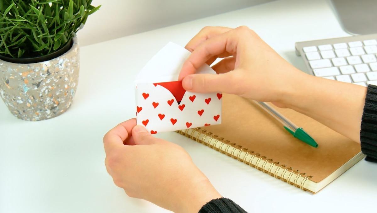 Enveloppe en forme de cœur