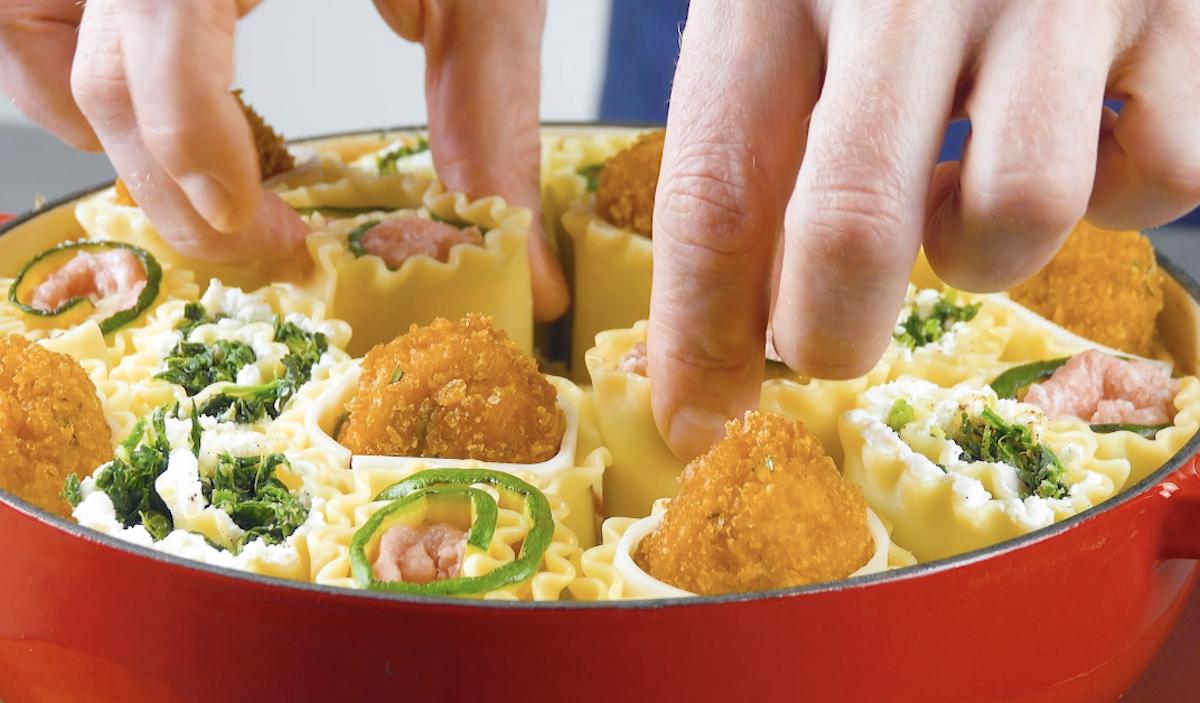 mettre les lasagnes dans le plat