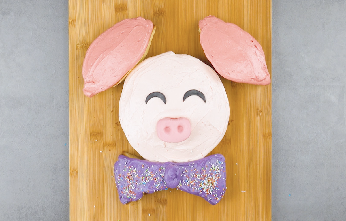 gâteau en forme de cochon