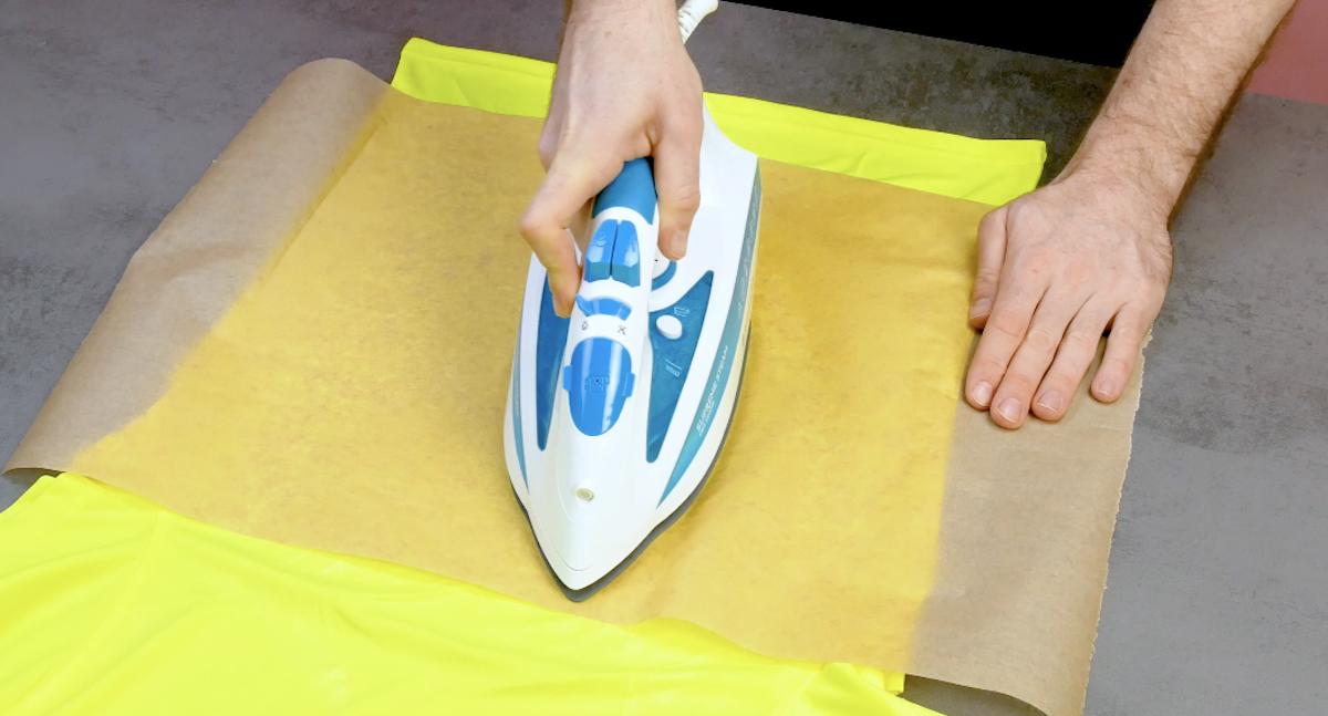 repasser avec du papier sulfurisé