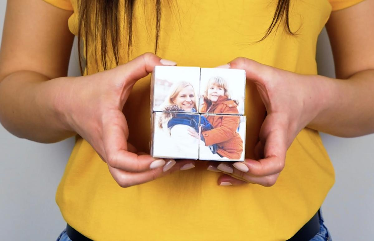 photos sur cubes