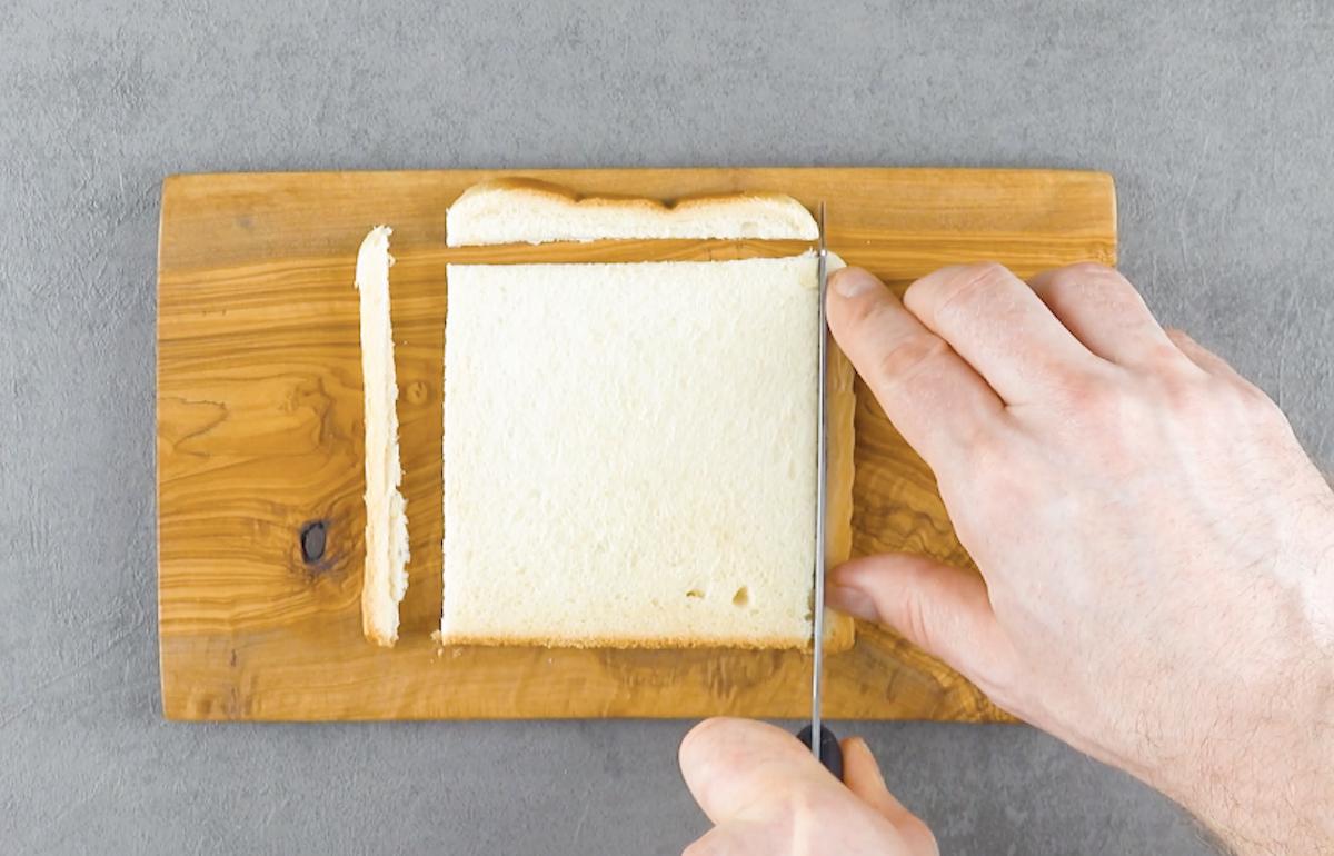 couper la croute du pain de mie