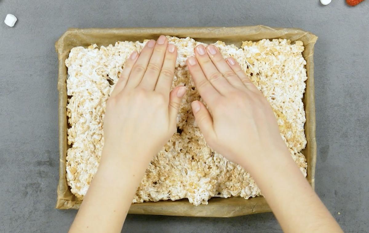 étaler les rice krispies