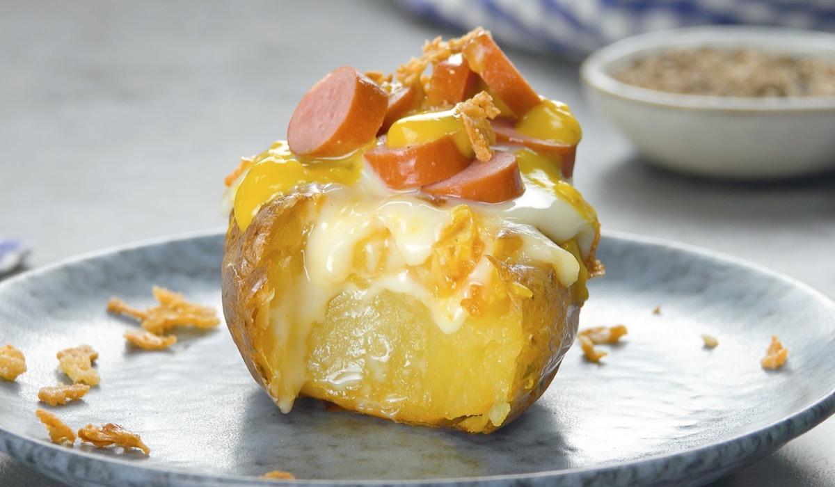 pomme de terre façon hot-dog