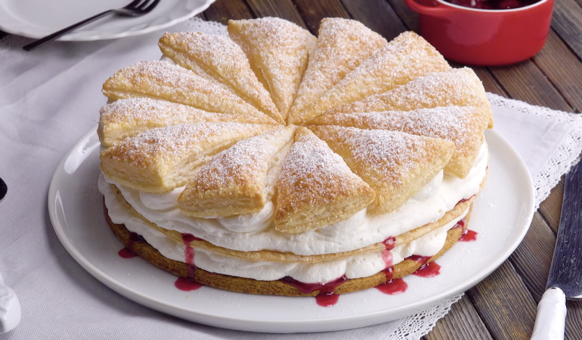 Gâteaucrémeuxaux cerises