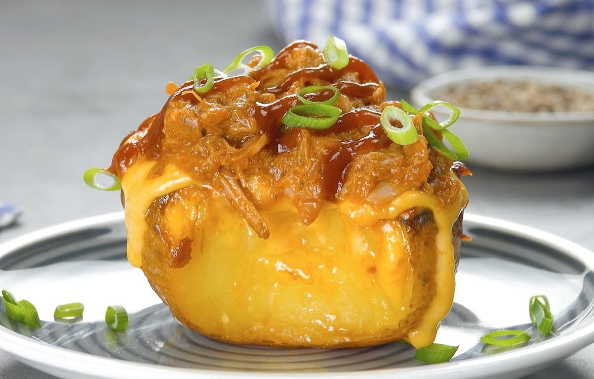 pomme de terre au porc effiloché