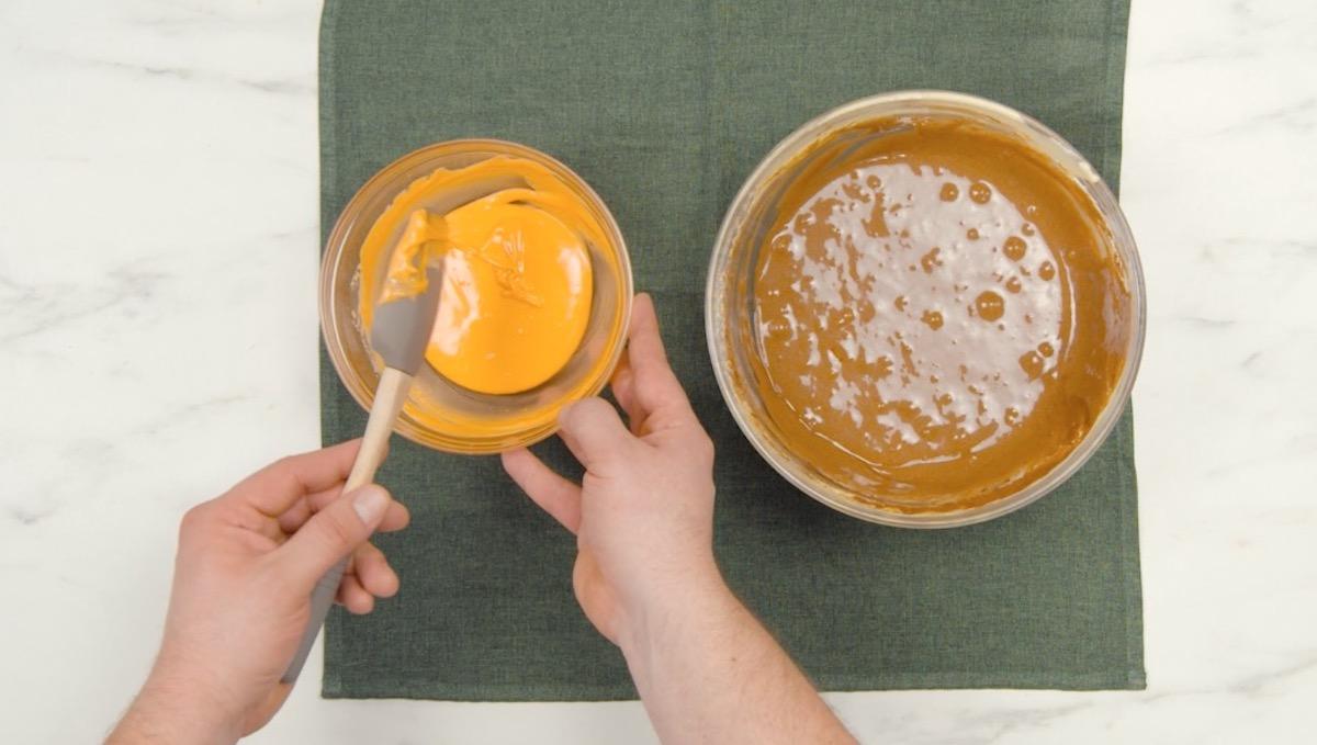 diviser la pâte et la colorer
