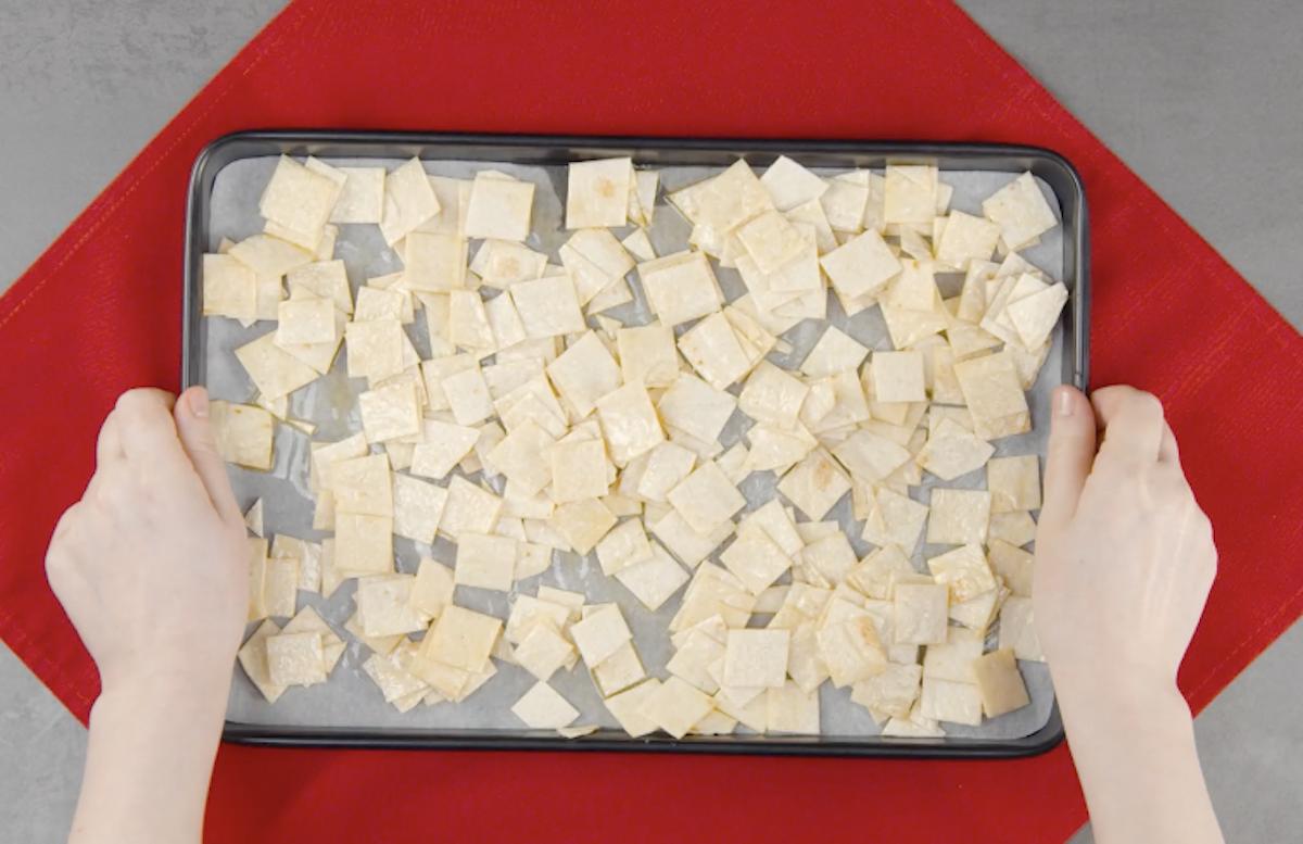 faire cuire les carrés au four