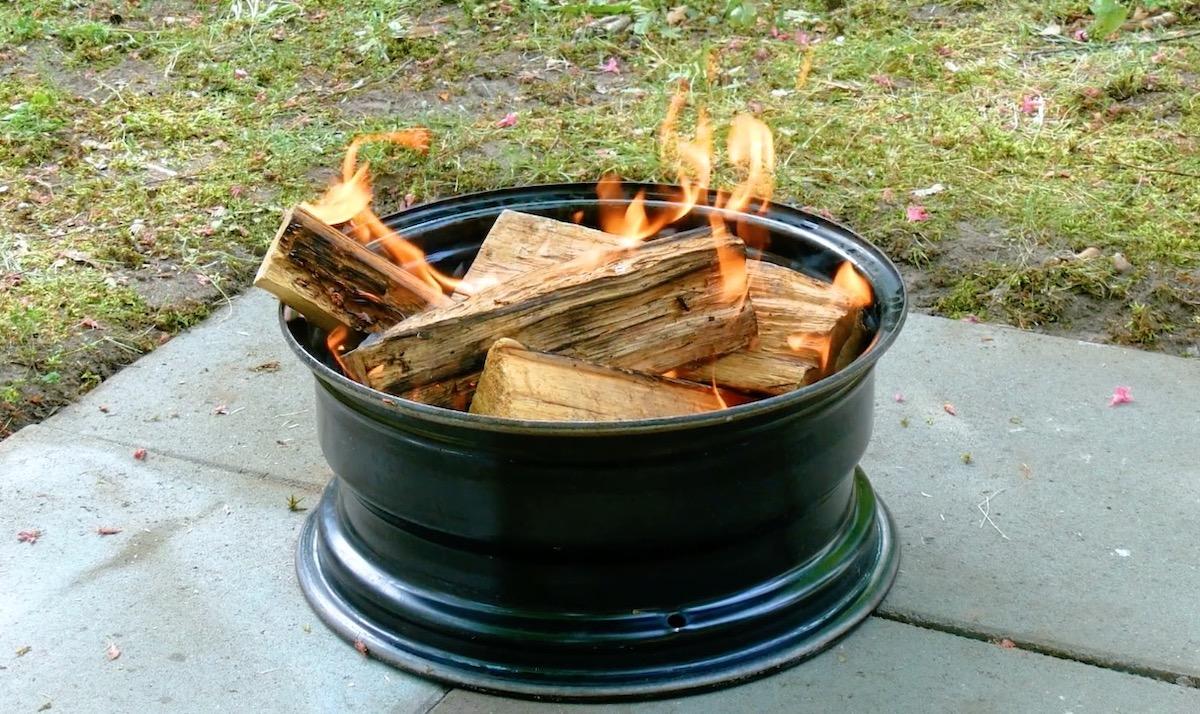 allumer un feu dans une jante