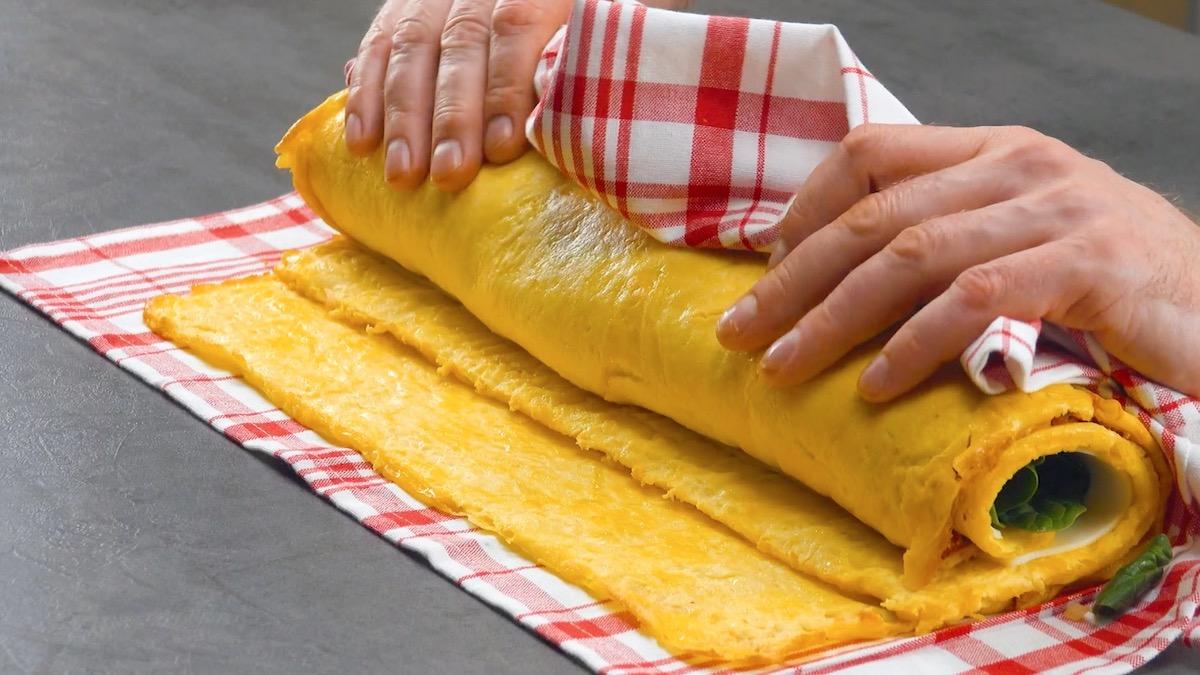 enrouler les omelettes