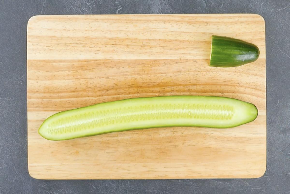 couper un concombre