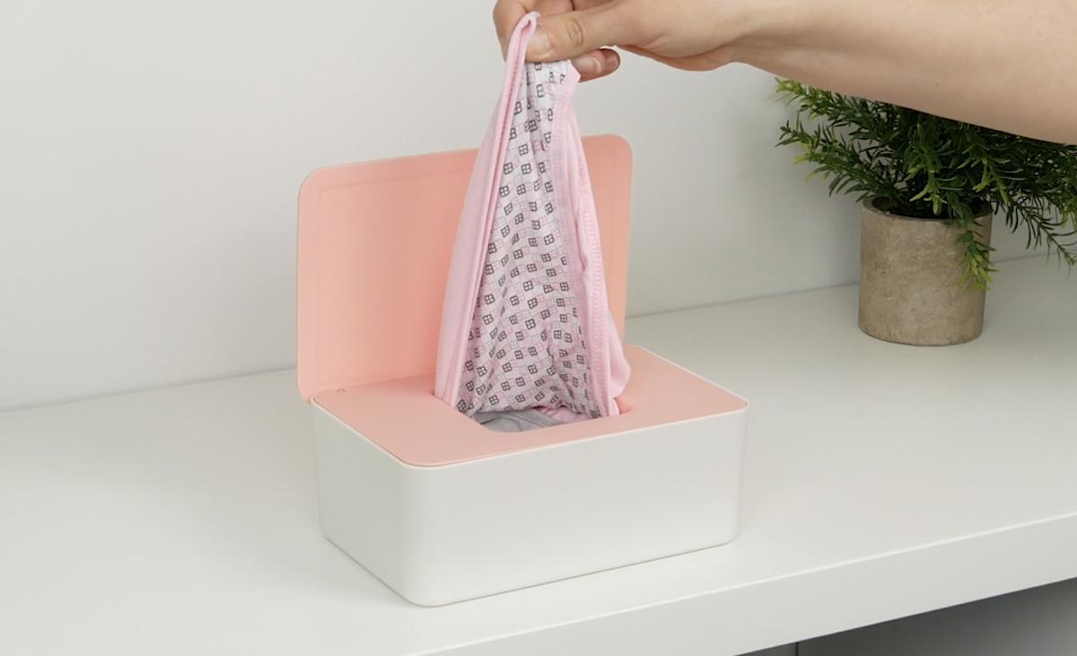 emballage pratique pour les sous-vêtements