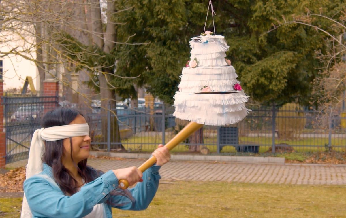 piñata remplie d'argent