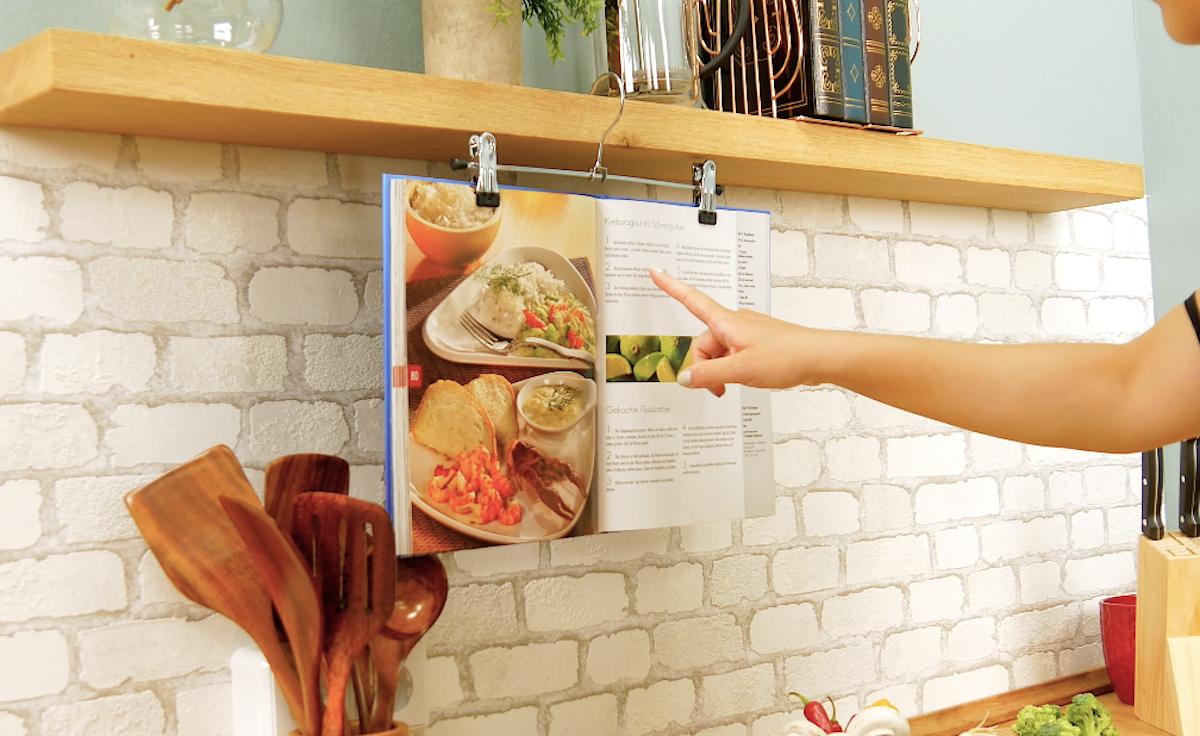 Support pour livre de cuisine