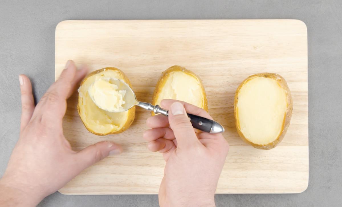 cuire et vider les pommes de terre