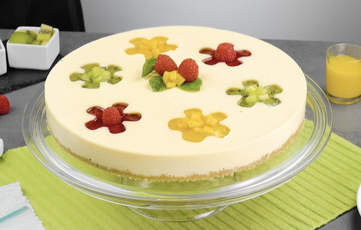 Pudding fleuri à la vanille