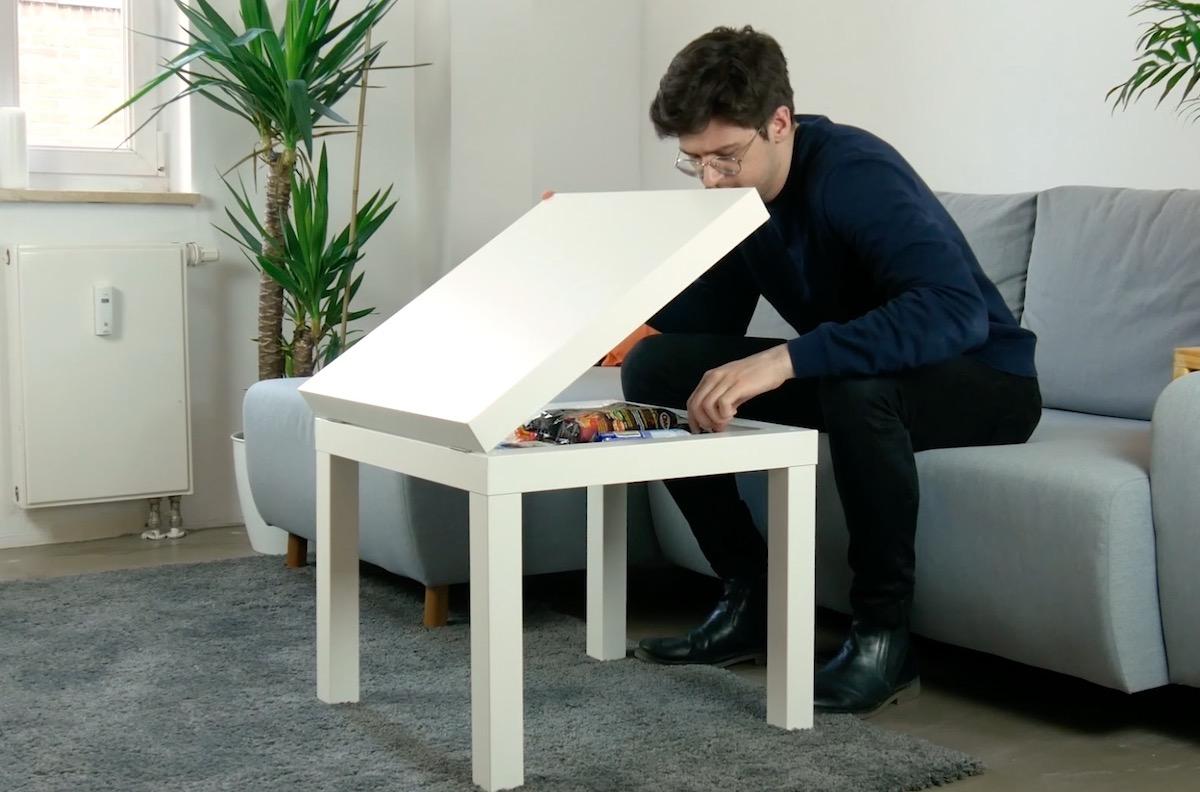 Table ikea avec espace de rangement
